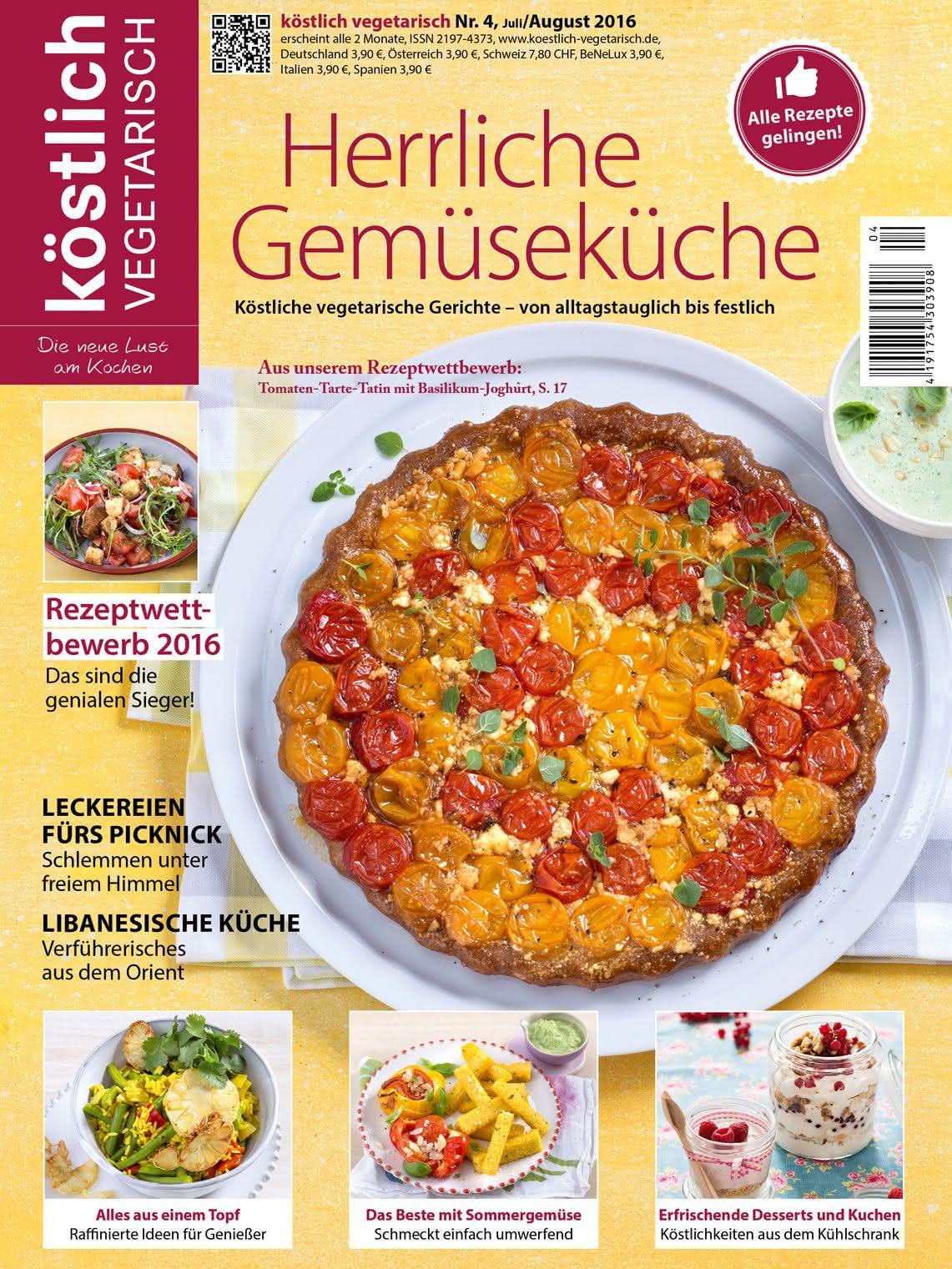 koestlich vegetarisch Ausgabe 4/16 Herrliche Gemuesekueche